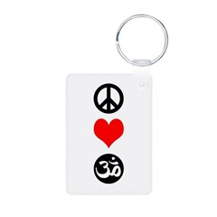 Peace Love Yoga Keychains