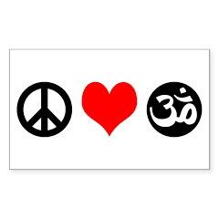 Peace Love Yoga Decal