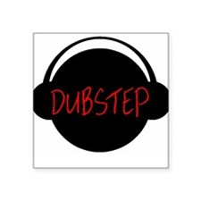 "Dubstep Head Square Sticker 3"" x 3"""