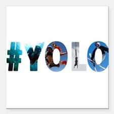 "#YOLO Square Car Magnet 3"" x 3"""