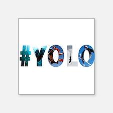 """#YOLO Square Sticker 3"""" x 3"""""""