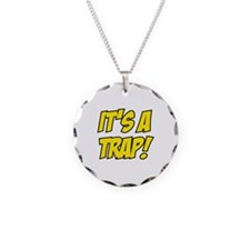 It's a trap! Necklace Circle Charm