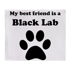 Black Lab Best Friend Throw Blanket