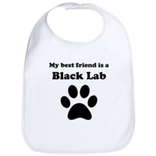 Black Lab Best Friend Bib