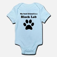 Black Lab Best Friend Infant Bodysuit