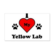 I Heart My Yellow Lab Wall Decal