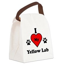 I Heart My Yellow Lab Canvas Lunch Bag