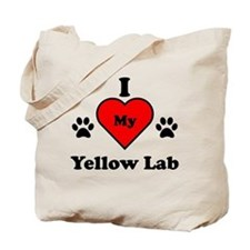 I Heart My Yellow Lab Tote Bag