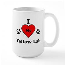 I Heart My Yellow Lab Mug