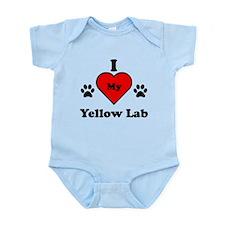I Heart My Yellow Lab Infant Bodysuit