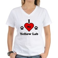 I Heart My Yellow Lab Shirt