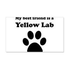Yellow Lab Best Friend Wall Decal