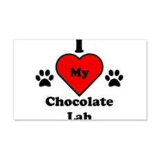 I Heart My Chocolate Lab Wall Decal