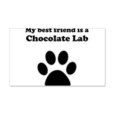 Chocolate Lab Best Friend Wall Decal