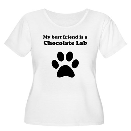Chocolate Lab Best Friend Women's Plus Size Scoop