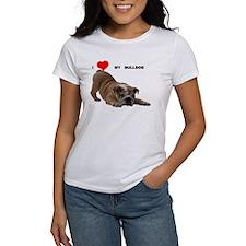 Bulldog love T-Shirt T-Shirt