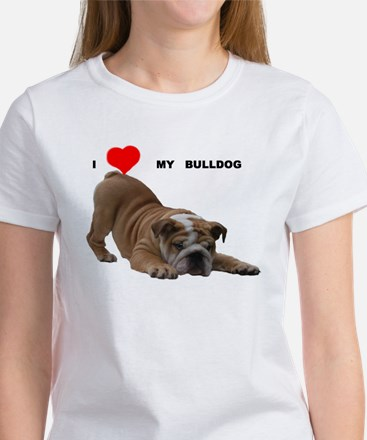 Bulldog love T-Shirt T-Shirt