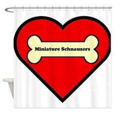 Miniature Schnauzers Heart Shower Curtain