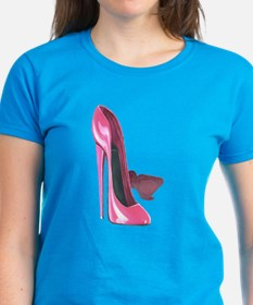 Pink Stiletto Shoes Art Tee