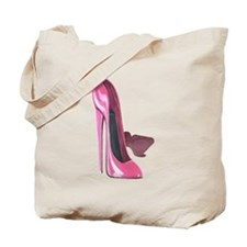 Pink Stiletto Shoes Art Tote Bag