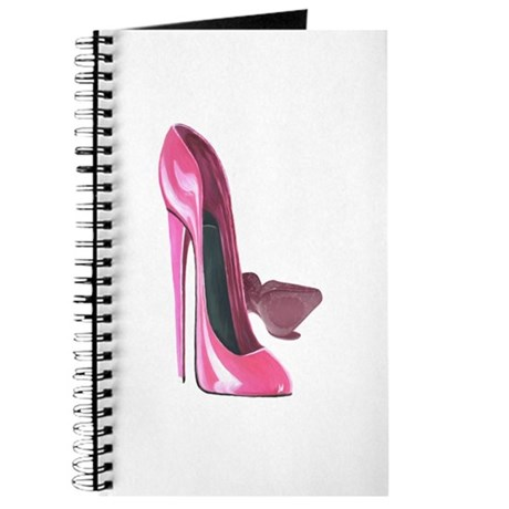 Pink Stiletto Shoes Art Journal