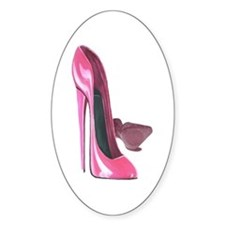 Pink Stiletto Shoes Art Decal