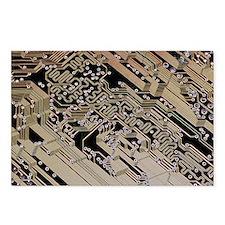 Printed circuit board, computer artwork - Postcard