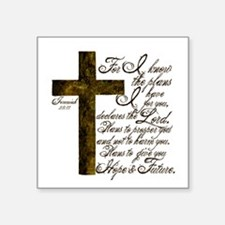 "Plan of God Jeremiah 29:11 Square Sticker 3"" x 3"""