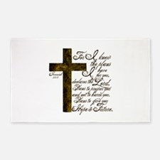Plan of God Jeremiah 29:11 3'x5' Area Rug