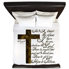 Plan of God Jeremiah 29:11 King Duvet