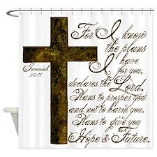 Plan of God Jeremiah 29:11 Shower Curtain