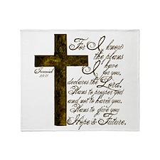 Plan of God Jeremiah 29:11 Throw Blanket