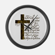 Plan of God Jeremiah 29:11 Large Wall Clock