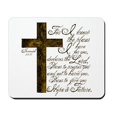 Plan of God Jeremiah 29:11 Mousepad