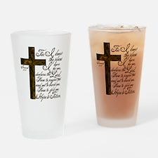 Plan of God Jeremiah 29:11 Drinking Glass