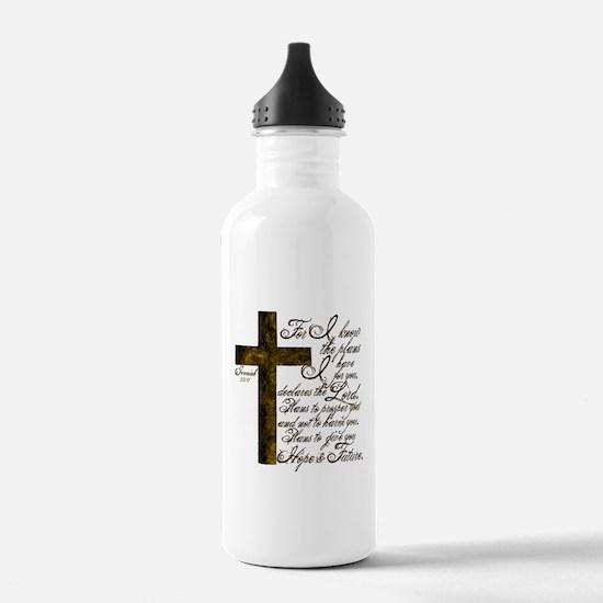 Plan of God Jeremiah 29:11 Water Bottle