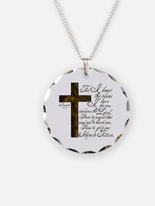 Plan of God Jeremiah 29:11 Necklace