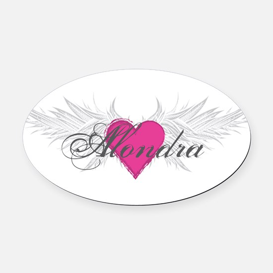My Sweet Angel Alondra Oval Car Magnet