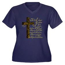 Plan of God Jeremiah 29:11 Women's Plus Size V-Nec