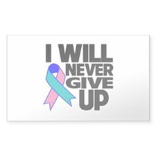 Never Give Up Thyroid Cancer Decal