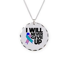 Never Give Up Thyroid Cancer Necklace