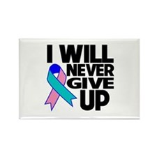 Never Give Up Thyroid Cancer Rectangle Magnet