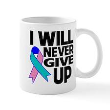 Never Give Up Thyroid Cancer Mug