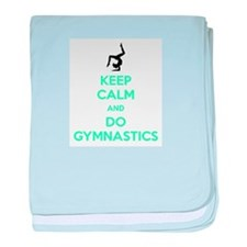 keep calm and do gymnastics baby blanket