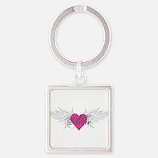 My Sweet Angel Allie Square Keychain