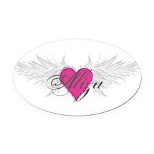 My Sweet Angel Aliza Oval Car Magnet