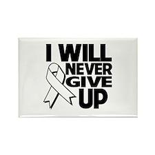 Never Give Up Retinoblastoma Rectangle Magnet