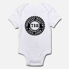 """BROOKLYN BALLER 718"" Infant Bodysuit"