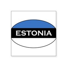 Estonian Stickers Oval Sticker
