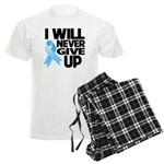 Never Give Up Prostate Cancer Men's Light Pajamas